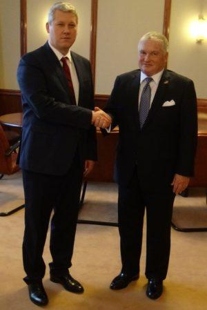 Cătălin Predoiu l-a primit, la Ministerul Justiției, pe Adrian Zuckerman, ambasadorul Statelor Unite ale Americii la București