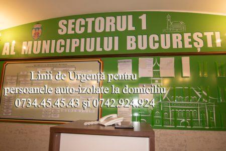 Primăria Sectorului 1 a înființat două linii telefonice de urgență: 0734.45.45.43 și 0742.924.924 la care persoanele pot suna