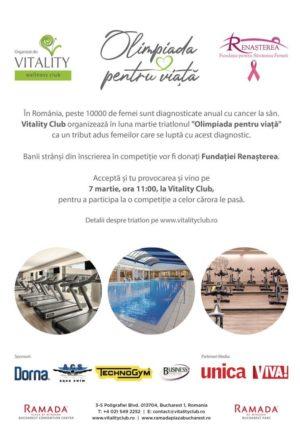"""7 Martie –Vitality Club lansează campania de CSR """"Olimpiada pentru viață"""""""