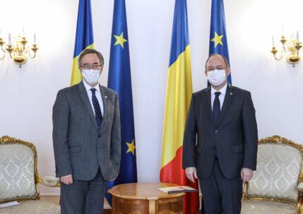 Primirea de către ministrul afacerilor externe Bogdan Aurescu a ambasadorului Regatului Unit al Marii Britanii și Irlandei de Nord