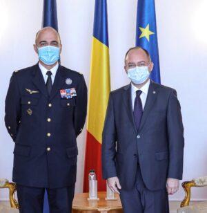 Primirea de către ministrul afacerilor externe Bogdan Aurescu a șefului Comandamentului Aliat pentru Transformare, generalul André Lanata