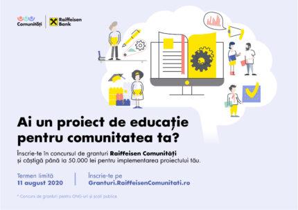 Programul de granturi Raiffeisen Comunitati la start – 500.000 lei finantari nerambursabile pentru 10 proiecte educationale