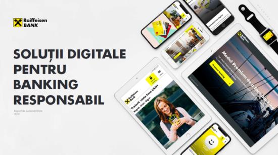 """Raiffeisen Bank Romania a publicat cel de-al unsprezecelea Raport de Sustenabilitate al bancii, sub titlul """"Solutii digitale pentru banking responsabil"""""""