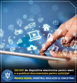 Oficiul Național pentru Achiziții Centralizate a publicat documentația de atribuire privind dispozitivele electronice conectate la internet
