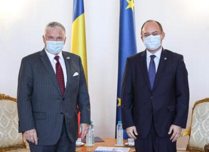 Întrevederea ministrului afacerilor externe Bogdan Aurescu cu ambasadorul SUAla București, Adrian Zuckerman