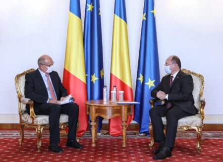 Întrevederea ministrului afacerilor externe Bogdan Aurescu cu președintele Uniunii Consulilor Onorifici din România (UCOR), Andreas Huber