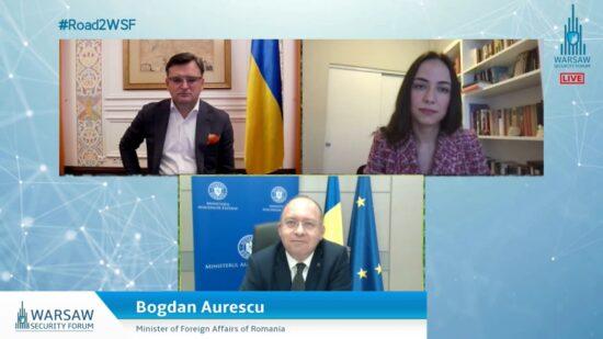 Participarea ministrului afacerilor externe Bogdan Aurescu la conferința internațională Road to Warsaw Security Forum