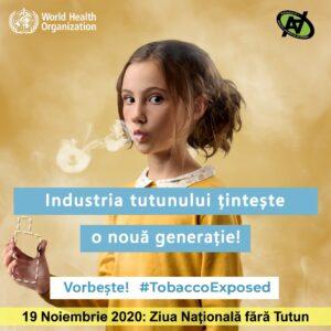 ZIUA NAŢIONALĂ FĂRĂ TUTUN – 19 NOIEMBRIE 2020 – Ziua Naţională fără Tutun