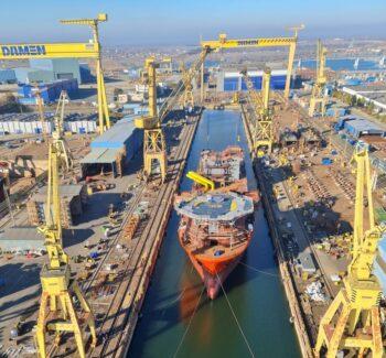 Cinci nave au fost lansate la apă la Șantierul Naval Damen Mangalia!
