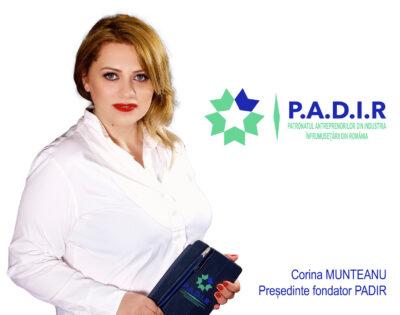 Interviu cu doamna Corina Munteanu, Președinte fondator al PADIR Patronatul Antreprenorilor din Industria Înfrumusețării din România și Președinte a Sucursalei CONAF București