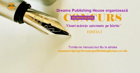 """Concurs de manuscrise """"VISURI MĂREȚE AȘTERNUTE PE HÂRTIE"""""""