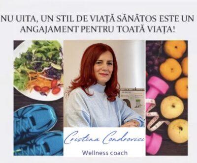 """Interviu cu Cristina Condrovici, wellness coach și fondator Happy Fit Wellness Center Deva: """"A avea un antrenor wellness în ziua de azi nu mai e un moft ci o necesitate."""""""