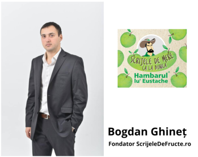 """Interviu cu Bogdan Ghineț, fondatorscrijeledefructe.ro:""""Fă tot ce faci cu pasiune și dragoste!"""""""