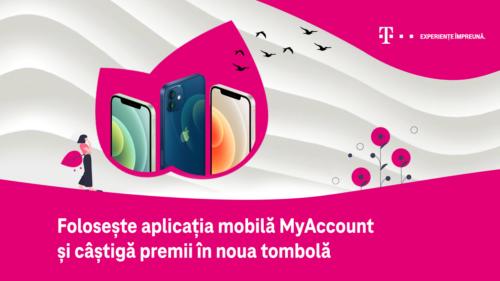 Telekom Romania oferă premii de mii de euro utilizatorilor aplicației mobile MyAccount