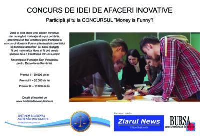 """CONCURS DE IDEI DE AFACERI INOVATIVE: Participă și tu la CONCURSUL """"Money is Funny""""!"""