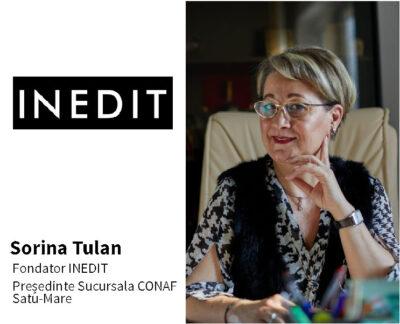 """Interviu cu Sorina Tulan, fondator INEDIT și Președinte al Sucursalei CONAF Satu-Mare: """"Şi femeile antreprenor au nevoie de suport, încurajare și informare."""""""