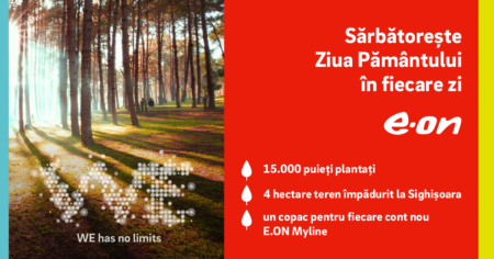 E.ON a împădurit patru hectare de teren degradat la Sighișoara, cu susținerea clienților