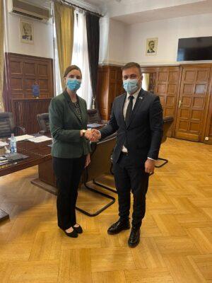 În data de 30 Iulie 2021, doamna Megan Bishop, noul Secretar Economic al Ambasadei S.U.A. în România, a efectuat o vizită de lucru la Oficiul de Stat pentru Invenții și Mărci