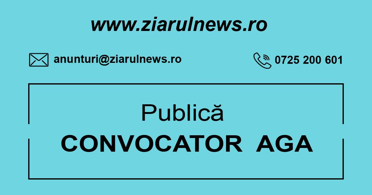 Societatea AGRICOVER SA: CONVOCATOR
