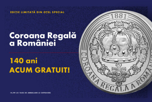 CASA DE MONEDE lansează medalia comemorativă Coroana Regală a Românie