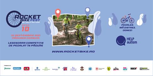 ROCKET BIKE FEST – ediția 10 Pedalezi, te distrezi, donezi la Rocket Bike Fest ediția 10!