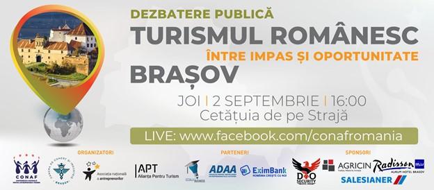 """Brașov – """"Turismul românesc: între impas și oportunitate""""- dezbatere publică care pune accent pe soluțiile de revenire a turismului în era post-pandemie"""