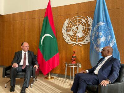 Întrevederea ministrului afacerilor externe Bogdan Aurescu cu Președintele Adunării Generale ONU, Abdulla Shahid